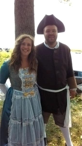 Jennifer St-Yves Lambert et son mari Michaël lors des fêtes du 350e de Louiseville