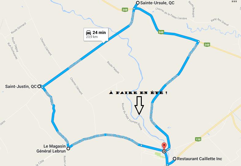 Circuit routier de Nadia Cardin
