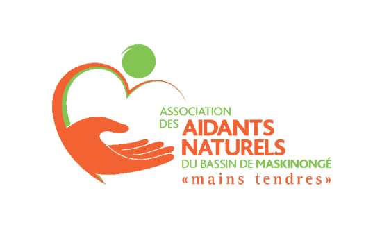 Logo Association des aidants naturels du bassin de Maskinongé « mains tendres »