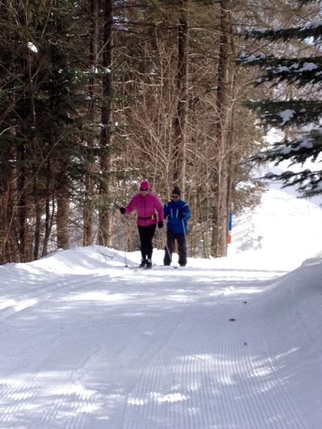 Suzie Paquin en ski de fond
