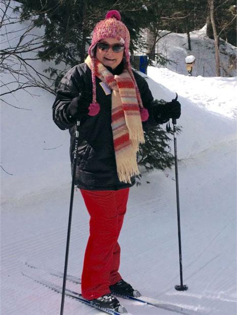 Suzie Paquin en ski