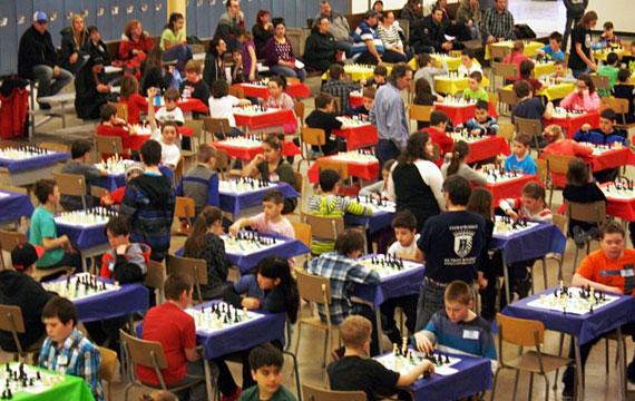 Championnat de jeux d'échecs scolaire à Louiseville
