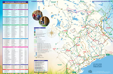 Carte des réseaux cyclables et entreprises touristiques dans la MRC de Maskinongé