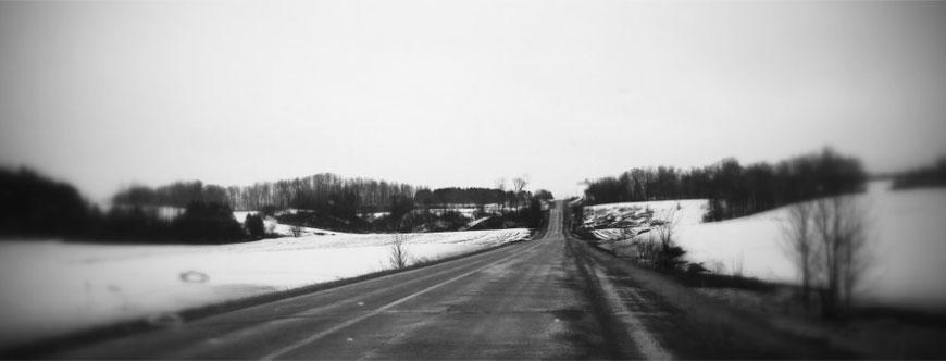 Route de Saint-Sévère. Photo : Nadia Cardin