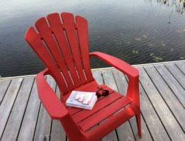 Livre au bord du lac