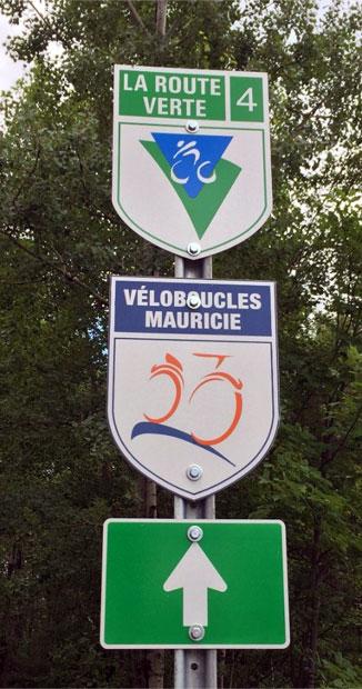 Route verte : signalisation