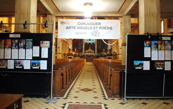 Exposition Conjuguer arts visuels et poésie à Louiseville