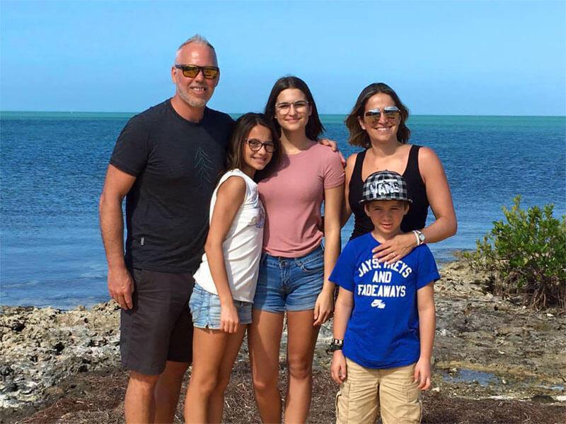 Nicole Lebel et sa famille