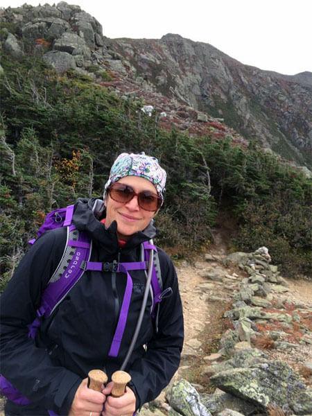 Nicole Lebel en montagne