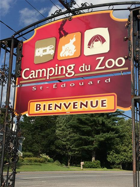 Camping du Zoo de St-Édouard : Enseigne