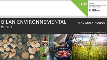 Bilan environnemental de la MRC de Maskinongé (partie 1)