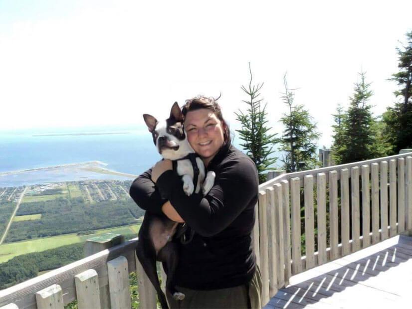 Nadia Cardin et son chien