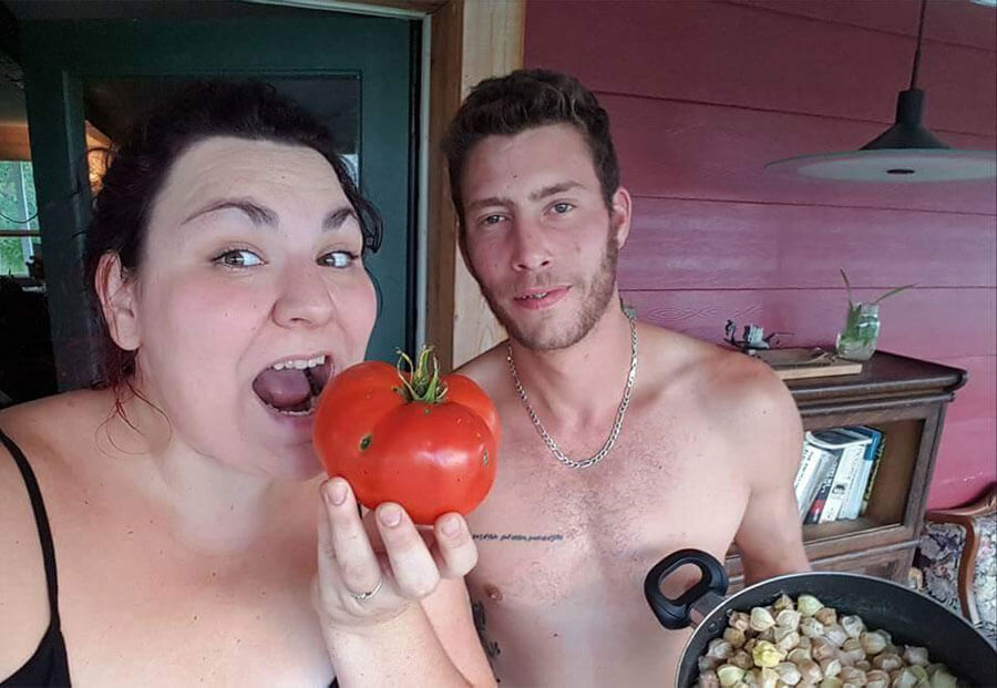 Nadia Cardin et son copain Simon