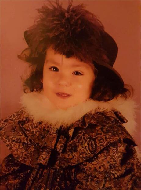 Nadia Cardin, enfant