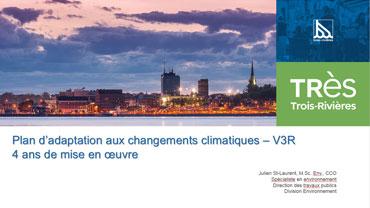 Plan d'adaptation aux changements climatiques