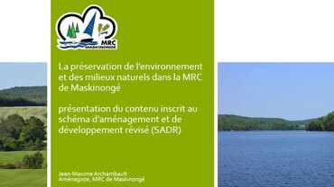 Préservation de l'environnement et des milieux naturels dans la MRC de Maskinongé