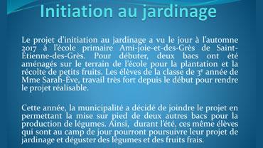 Projet de potager : École primaire de St-Étienne-des-Grès