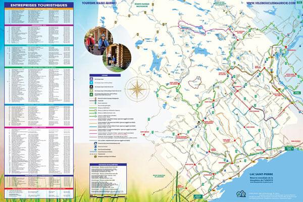 Carte vélo de la MRC de Maskinongé
