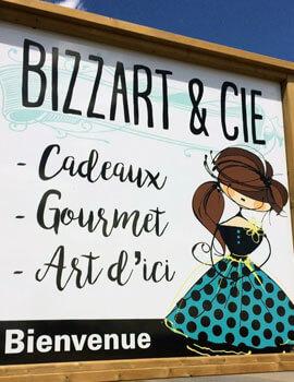 Bizzart et Cie : Enseigne