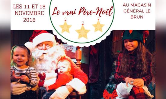 Père Noël au Magasin général Le Brun