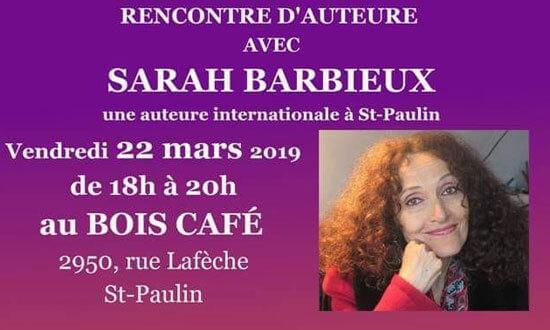 Rencontre avec l'auteure Sarah Barbieux