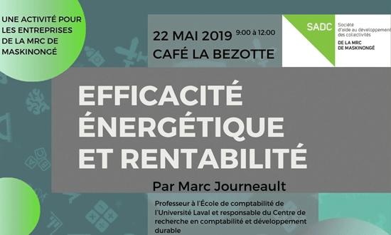 Conférence : Efficacité énergétique et rentabilité